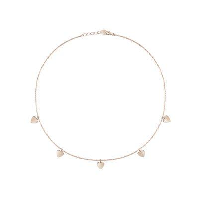 Salvini Collana I Segni Cuore Oro Rosa 9kt e Diamante