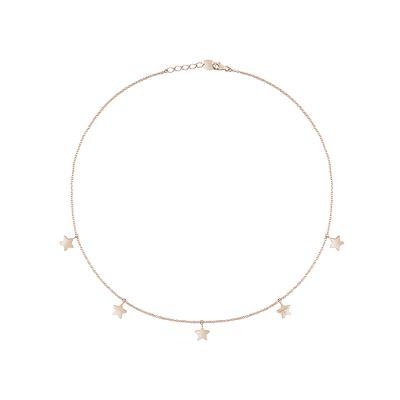 Salvini Collana I Segni Stelle Oro Rosa 9kt e Diamante