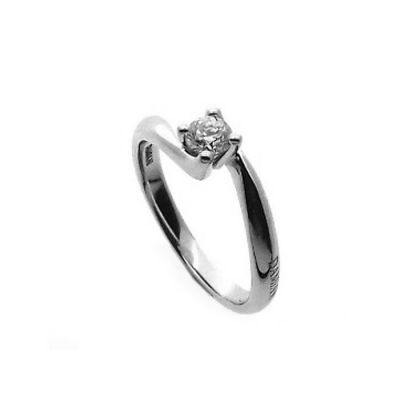 Damiani Anello di Fidanzamento Scelgo Te in Oro Bianco e Diamante ct 0.30