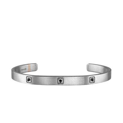 Salvini Bracciale Titanium in Titanio e 3 Diamanti Black