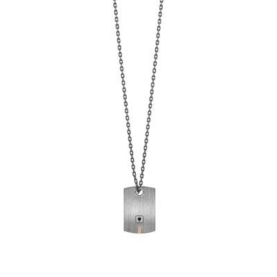 Salvini Collana Titanium in Titanio e Diamante Black