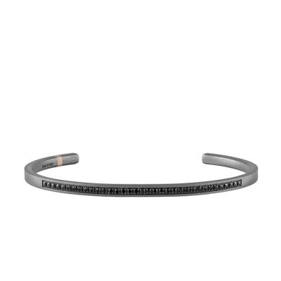 Salvini Bracciale Titanium in Titanio e Diamanti Black