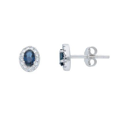 Orecchini con Diamanti e Zaffiri ct 0.69