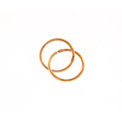 Maiocchi Silver Orecchini a Cerchio 10 mm Rosato