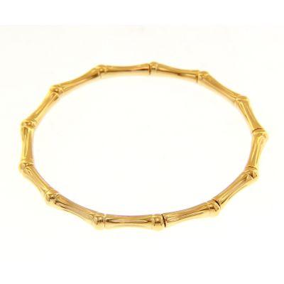 Bracciale Bamboo Elastico in Oro Giallo 18kt