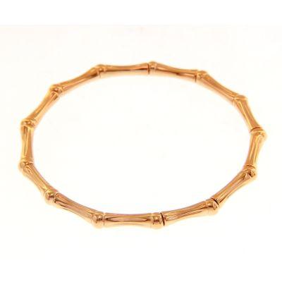 Bracciale Bamboo Elastico in Oro Rosa 18kt
