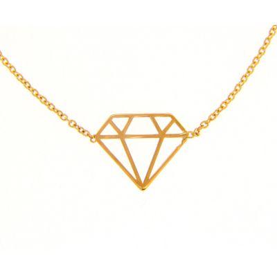 Girocollo Diamante in Oro Giallo 18kt