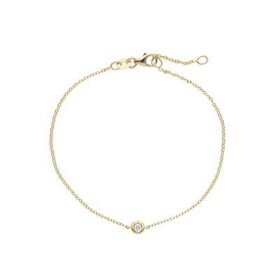 Maiocchi Milano Bracciale Oro Giallo con Diamante ct 0.04