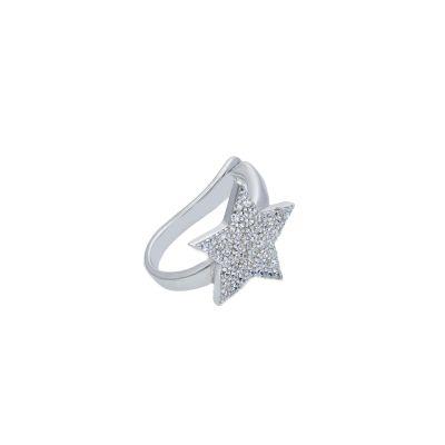Maiocchi Silver Ear Cuff Stella Argento e Zirconi