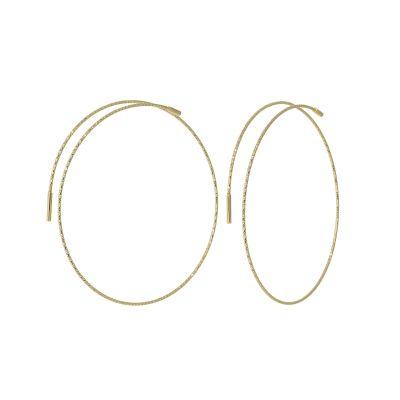 orecchini a cerchio in oro bianco