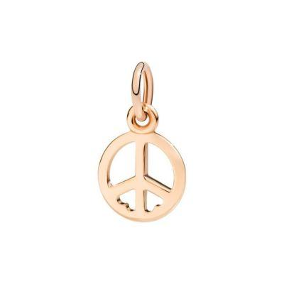 Dodo Charm Simbolo Della Pace Oro Rosa 9kt