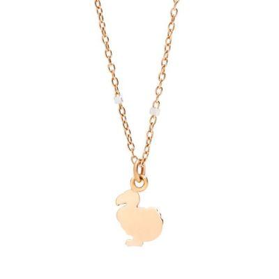 Dodo Collana Mini Dodo Oro Rosa 9kt