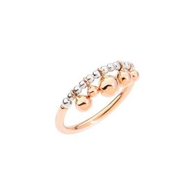 Dodo Anello Bollicine Oro Rosa 9k e Argento