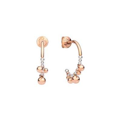 Dodo Orecchini Bollicine Piccoli Oro Rosa 9kt e Argento