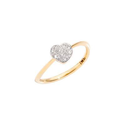 Dodo Anello Cuore Oro Giallo 18kt Diamanti