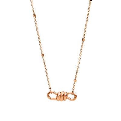 Dodo Collana Mini Nodo Oro Rosa 9kt