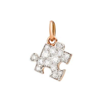 Dodo Charm Puzzle Oro Rosa 9kt Diamanti