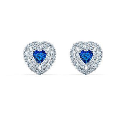 Orecchini cuore blu SVAROSVKI 5511685