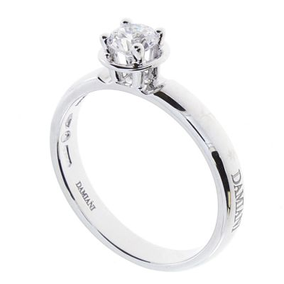 Damiani Anello di Fidanzamento Minou in Oro Bianco e Diamante ct 0.25 G VS