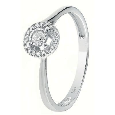 Anello in oro bianco 18 kt e diamanti