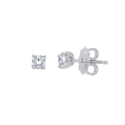 Orecchini punti luce con diamanti ct 0,28 G VS