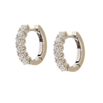 Orecchini Cerchi diamanti ct 0,87 G