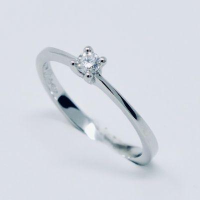 Polello Anello di Fidanzamento in Platino e Diamante 2629