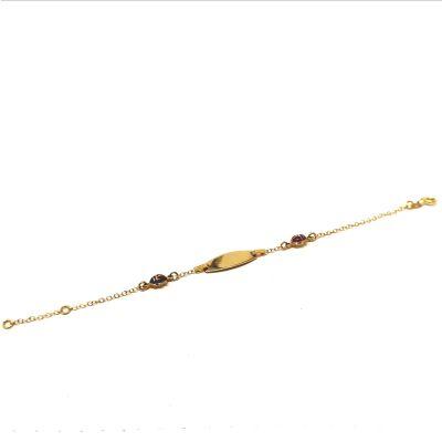 Bracciale Bimba Oro Giallo Con Coccinelle GR.2,5