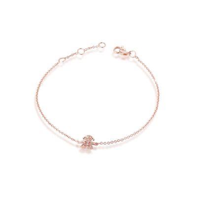 Bracciale Briciole bimba oro rosa e pavé