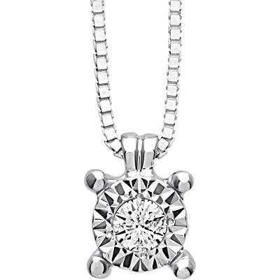 girocollo in oro bianco e diamante