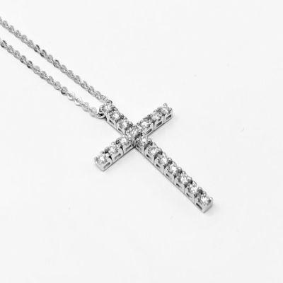 Girocollo Croce Diamanti ct 0.22