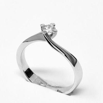 anello solitario ct 0,15 D VVS2 IGI