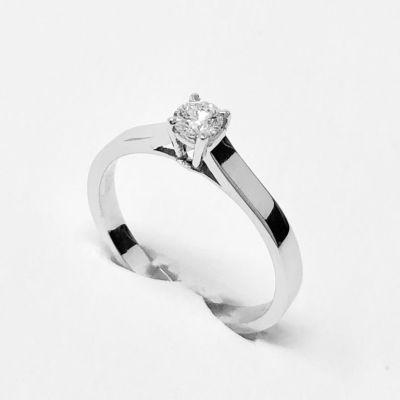 anello solitario ct 0,20 E VVS1 IGI