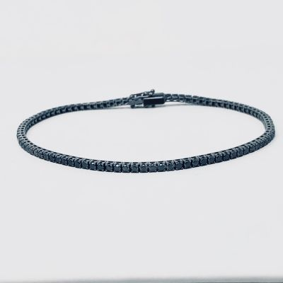 Bracciale tennis Diamanti Black ct.2,50