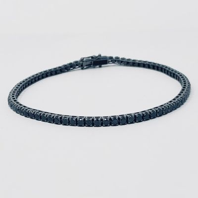 Maiocchi Milano Bracciale Tennis Diamanti Black ct. 4,10