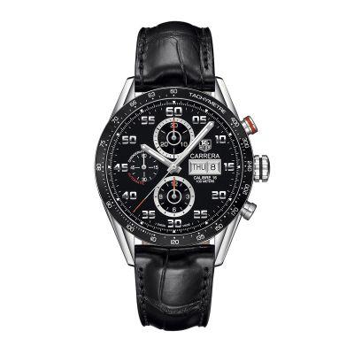 Cronografo Uomo TAG Heuer Carrera Calibre 16 automatico Nero Alligatore