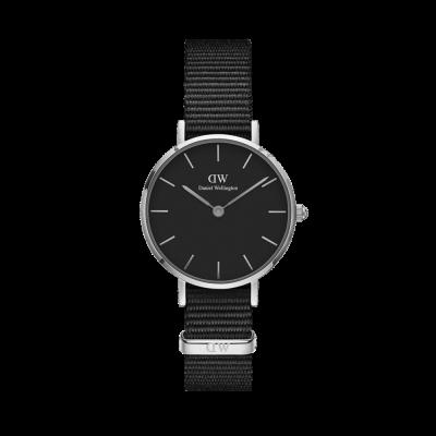 Daniel Wellington Petite Cornwall 28 Silver Black