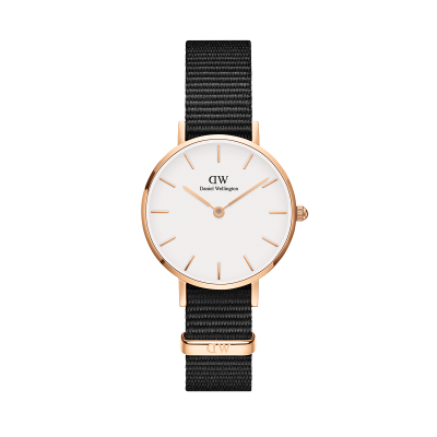 Daniel Wellington Petite Cornwall 28 Rose Gold White