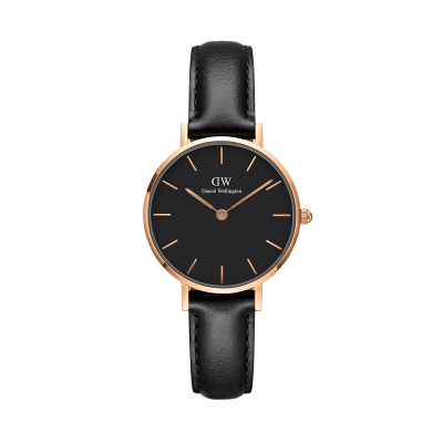 Daniel Wellington Petite Sheffield 28 Rose Gold Black