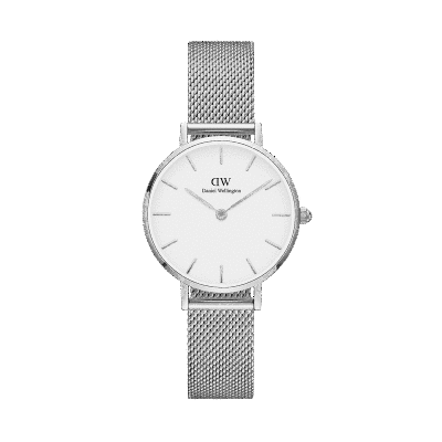 Daniel Wellington Petite Sterling 28 White