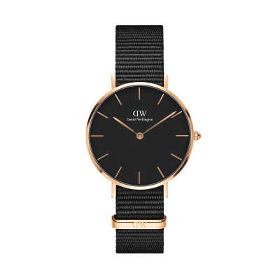 Daniel Wellington Petite Cornwall 32 Rose Gold Black