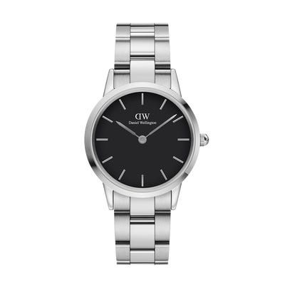 Daniel Wellington Iconic Link Silver Black 32