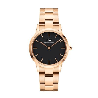 Daniel Wellington Iconic Link Rose Gold Black 32