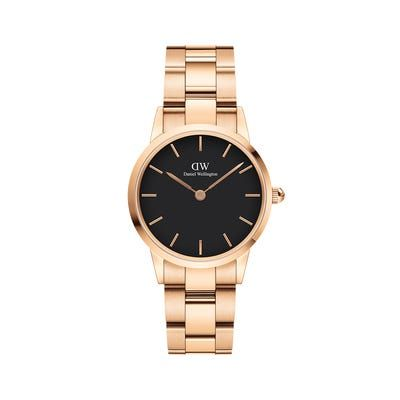 Daniel Wellington Iconic Link Rose Gold Black 28