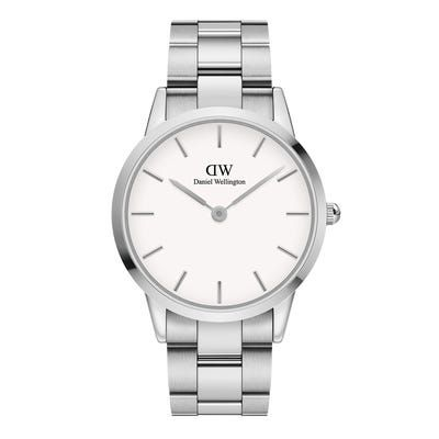 Daniel Wellington Iconic Link Silver White 40