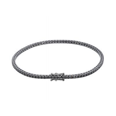 Bracciale Tennis Diamanti Black ct 1.20