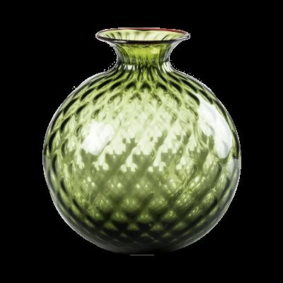 Venini Monofiori Balloton 100.14 Verde Mela Filo Rosso