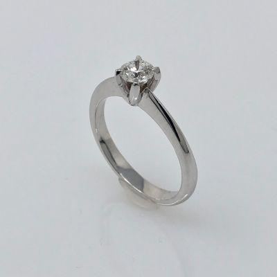 anello solitario ct 0,21 D VVS2