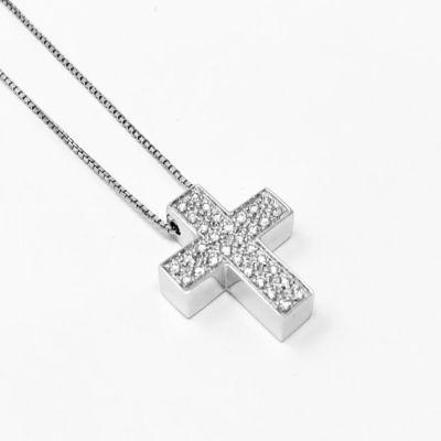 Girocollo Croce Piccola con Diamanti ct 0.30