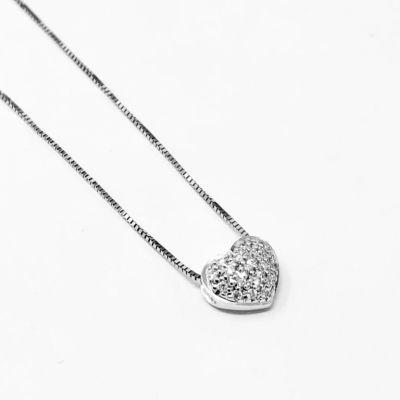 Girocollo Cuore con Diamanti ct 0.05